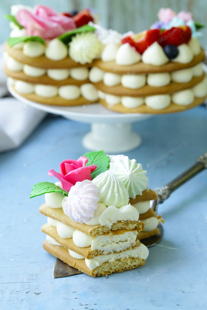 Honey Cake with Mascarpone Cream