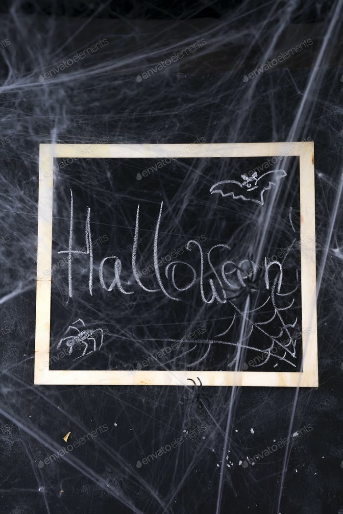 Chalkboard on a black background