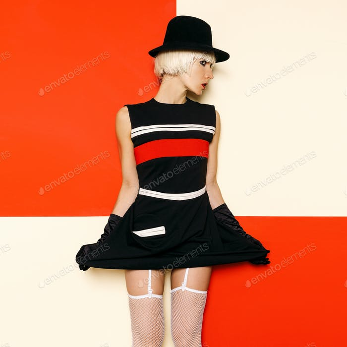 Blonde Retro Style Cabaret vintage clothing. Minimal Fashion. St