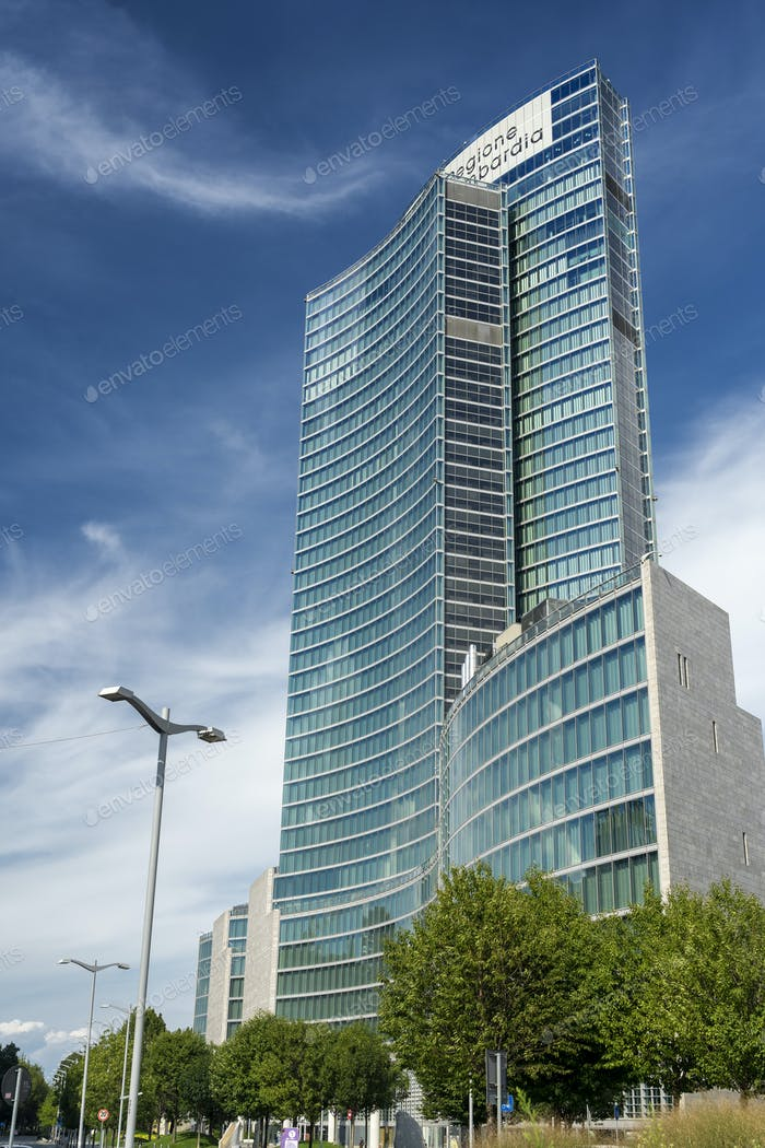 Palazzo Lombardia, modern building in Milan