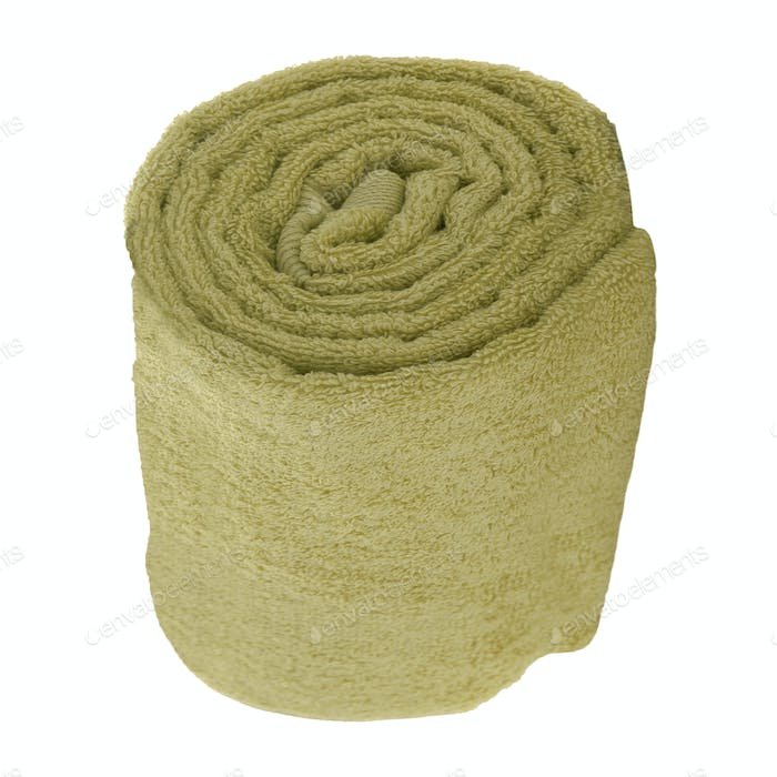 Rolled towel isolated