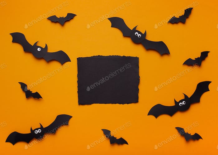 Creepy Halloween background with black copy space for text