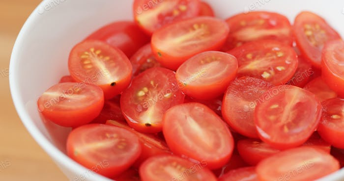 Heap of Fresh cherry tomato in bowl