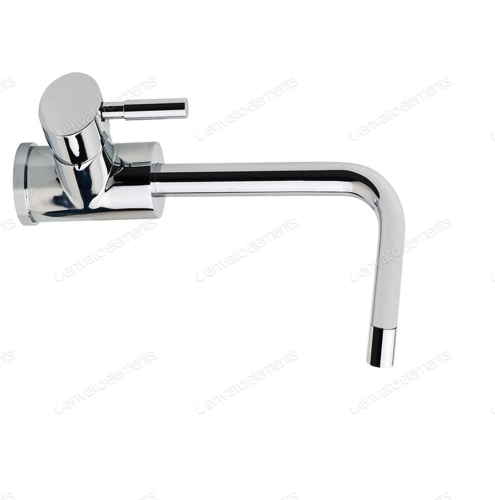 water-supply faucet mixer for water isolated on white