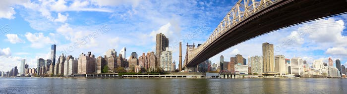 Queensboro Bridge panorama NYC