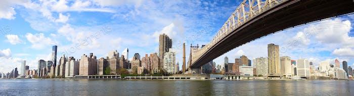 Queensboro Bridge Panorama NYC