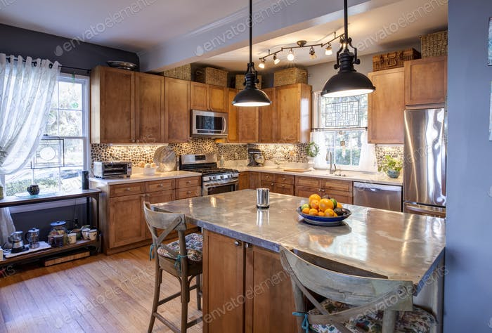 Designer eclectic style kitchen