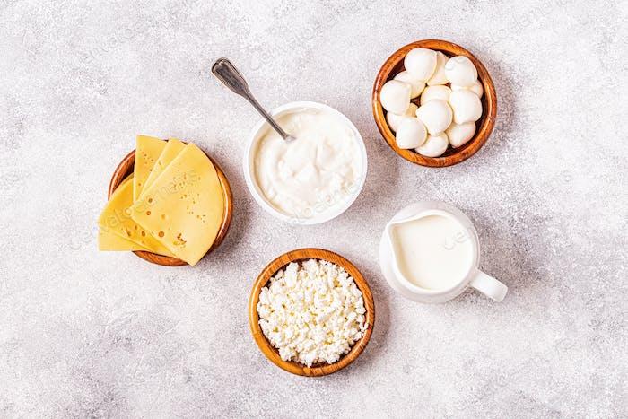 Probiotika fermentierte Milchprodukte.