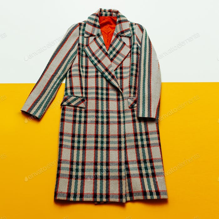 checkered Coat Fashion Urban Vintage style