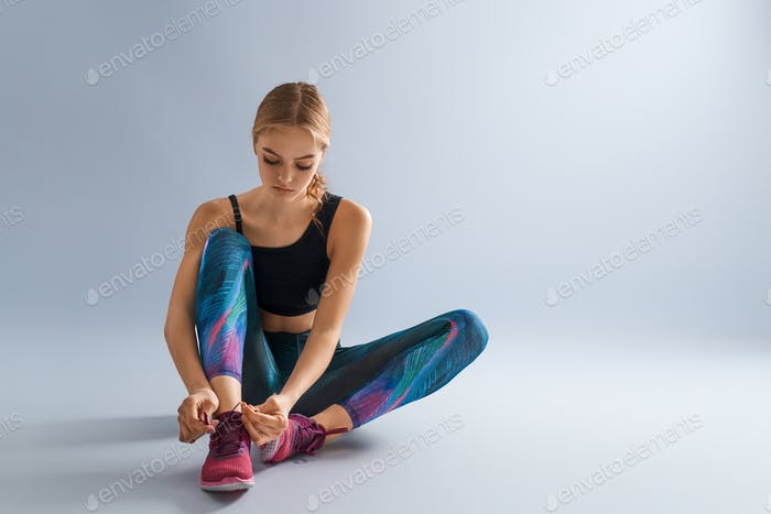 Woman in fashionable sportswear