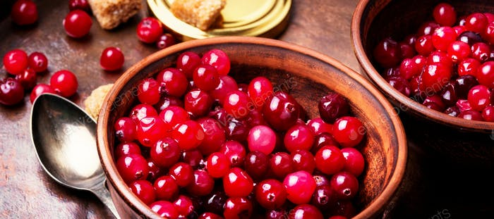 Thumbnail for Berries of cranberries for tea