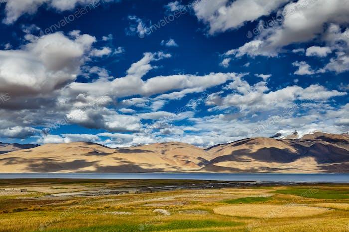 See Tso Moriri im Himalaya. Ladakh, Indien