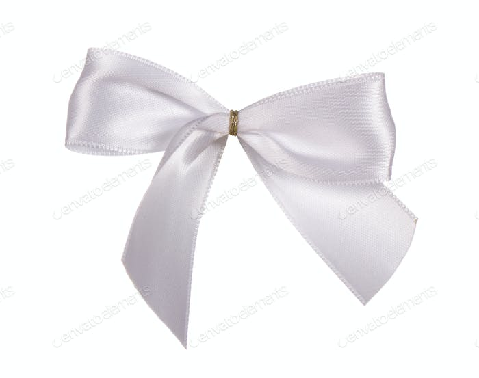 Silver silk bow