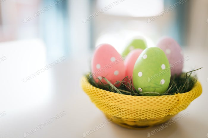 Perfect colorful easter eggs