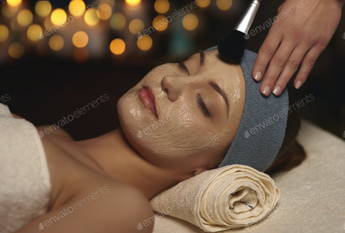 Beauty Maske im Beauty Spa