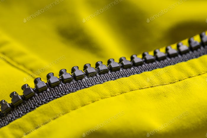 Zipper on clothes