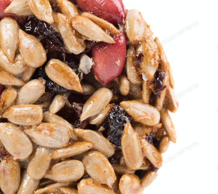 Candied roasted peanut sunflower seeds.