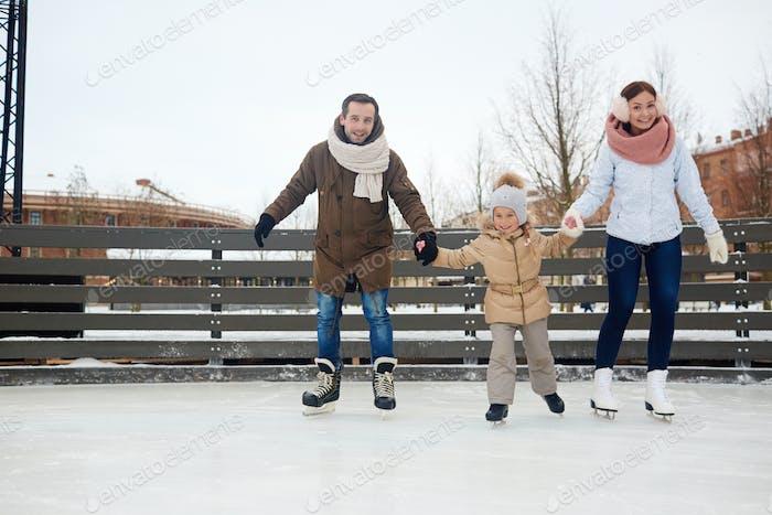 Family of skaters