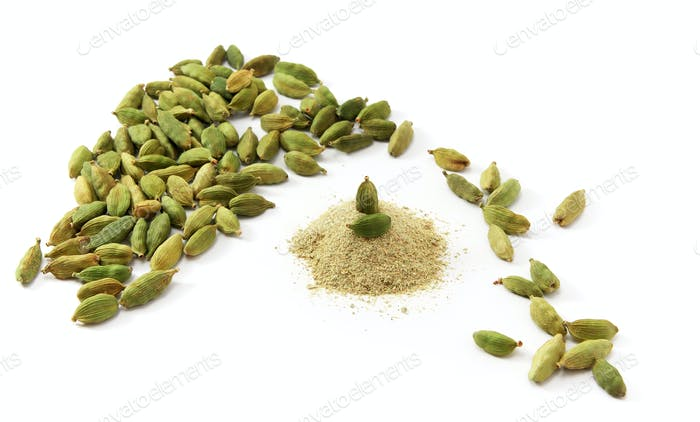 Cardamom isolated.