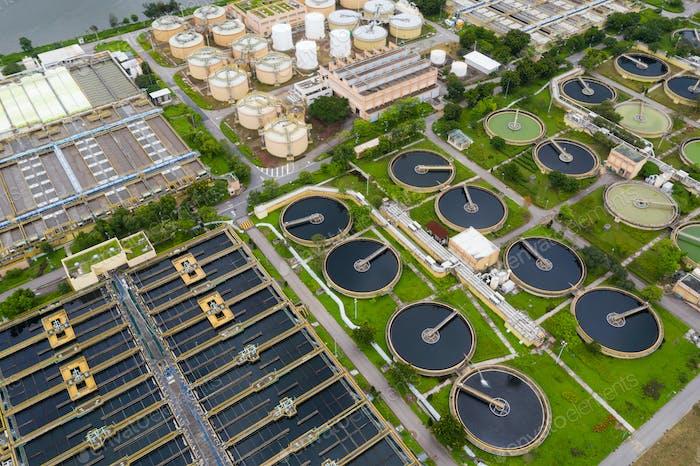 Sewage treatment plant in Hong Kong