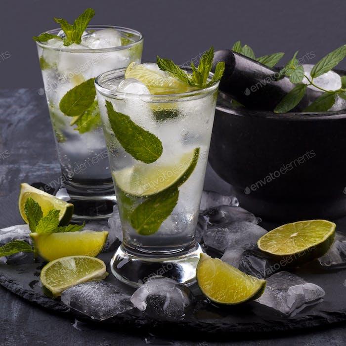 Glass of mojito cocktail