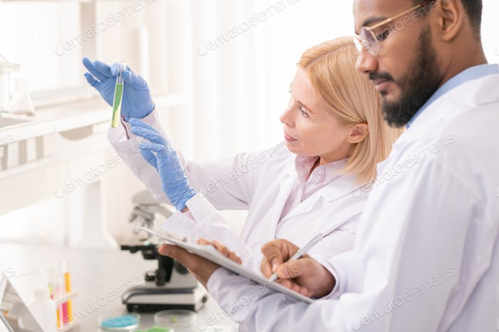 Team of scientists in laboratory
