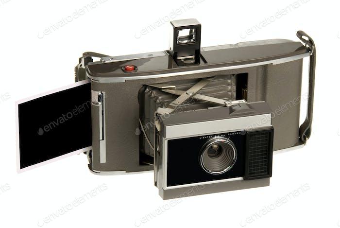 Antique instand print camera