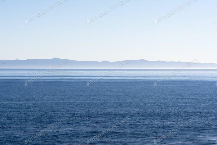 Island over ocean