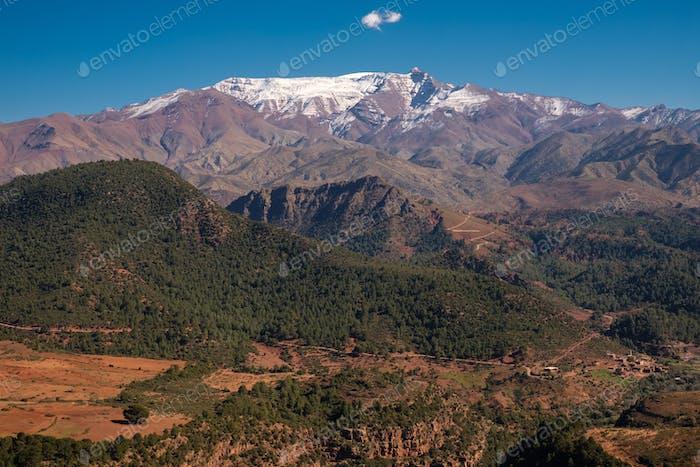 Morocco The High Atlas Mountain range view