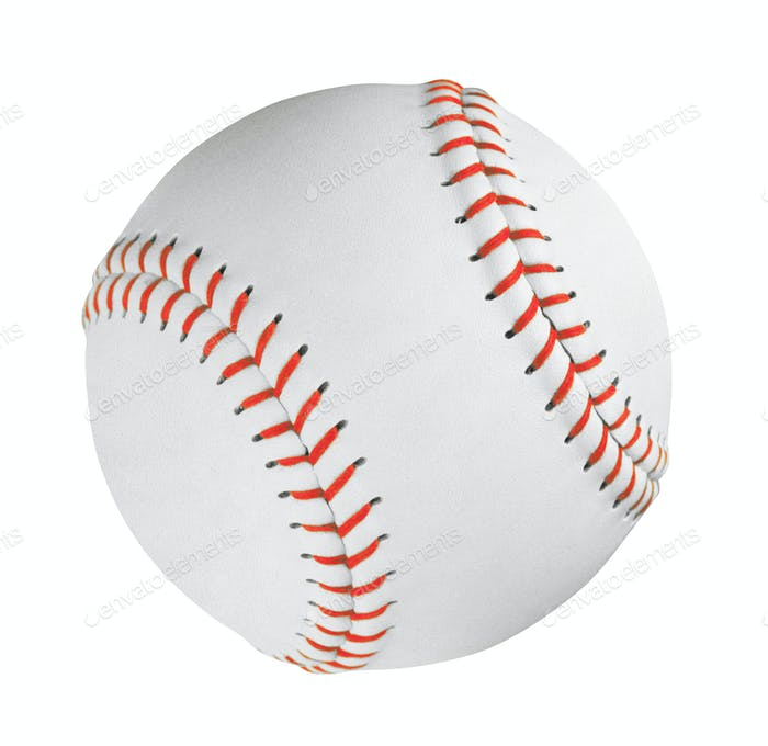 Professional Baseball Ball Isolated