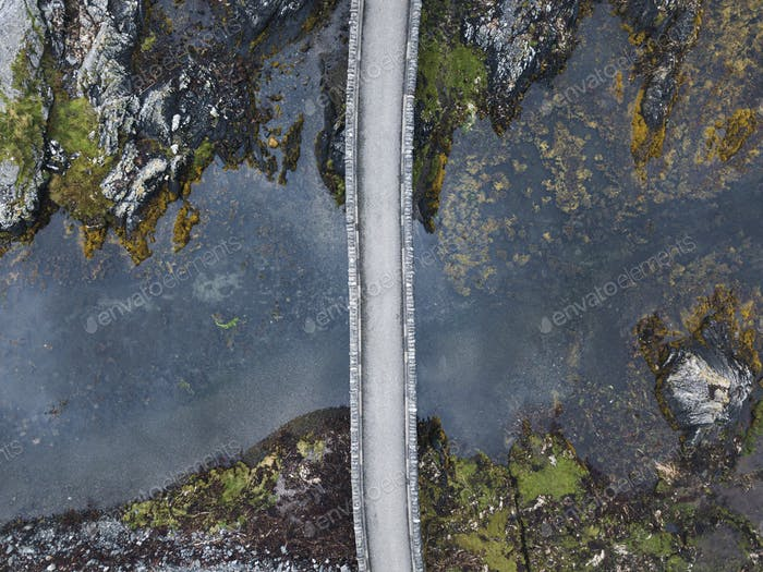 Drone shot of Eilean Donan Castle, Scotland