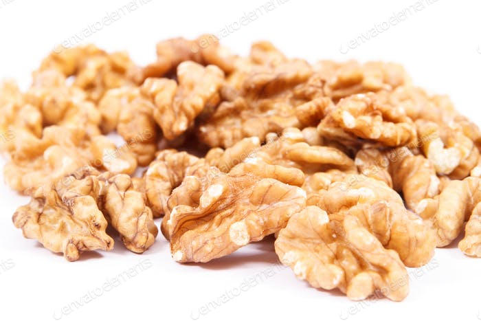 Walnuts as fruit containing iron, omega 3 acids, vitamins and minerals, healthy nutrition concept