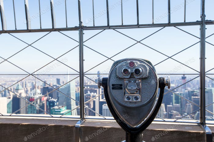 Beautiful view from the rooftop of Empire State Building, New York