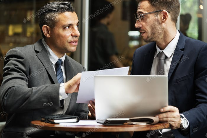 Business Colleagues Discussion Laptop Concept