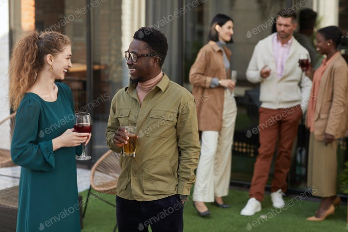 Small Group of People at Outdoor Party
