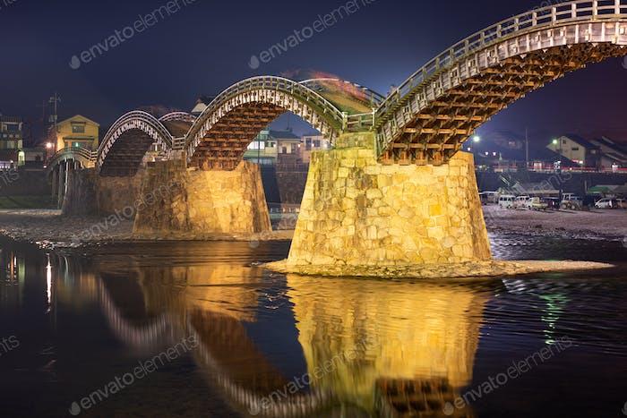 Iwakuni, Hiroshima, Japan at Kintaikyo Bridge