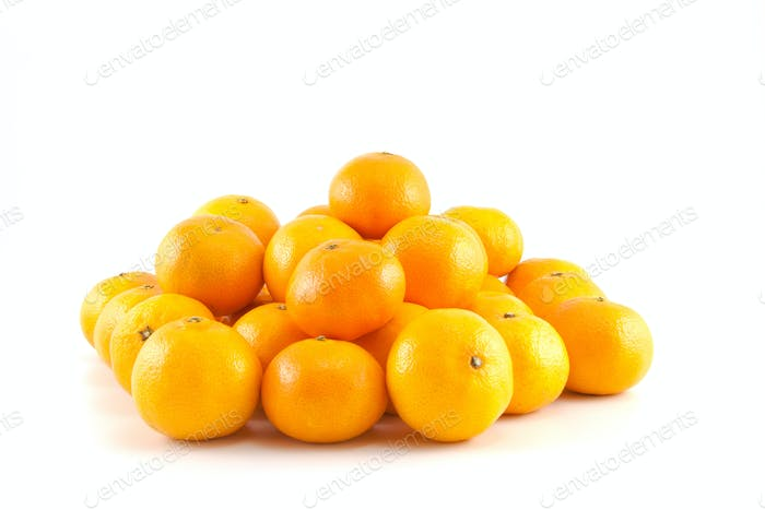 a lot of mandarins or tangerines