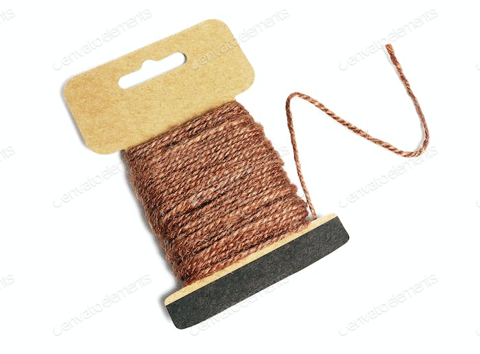 Hemp Rope Wound Up on Card