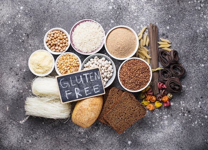 Set of gluten free products