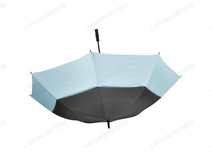 Schirm isoliert auf weißem Hintergrund