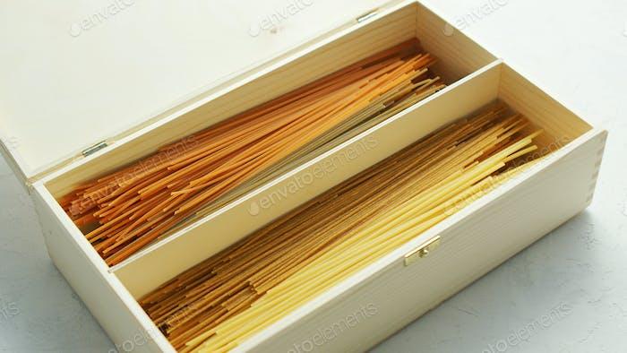 Rohe Spaghetti in Box