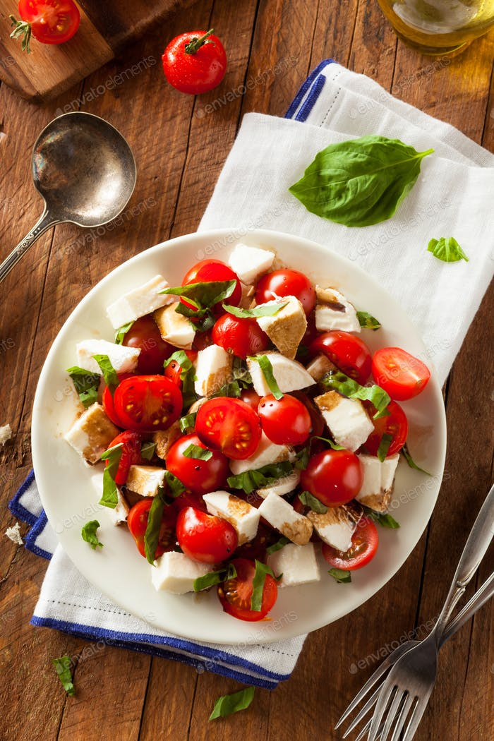 Homemade Healthy Caprese Salad