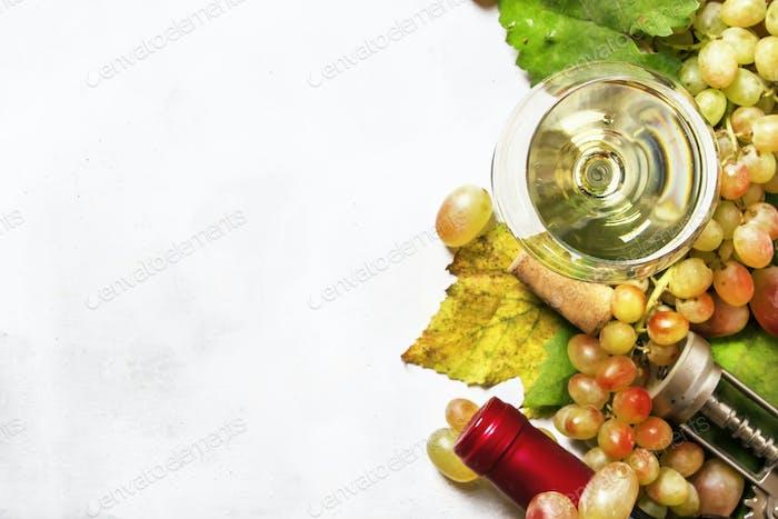 Dry white wine from sauvignon grapes