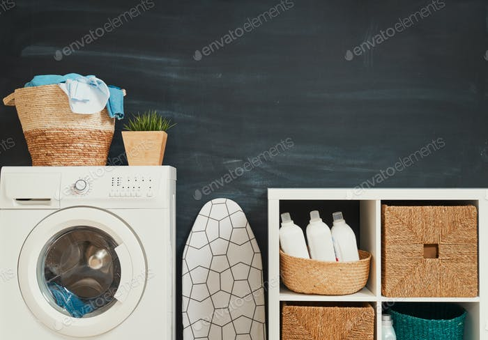 Thumbnail for laundry room with a washing machine