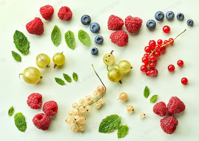 various fresh berries