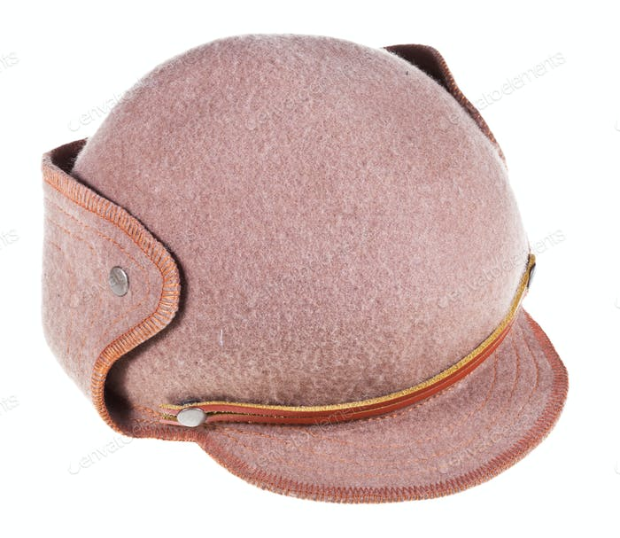 felt hat ushanka with cap peak