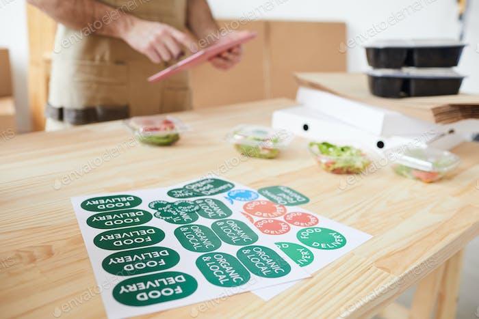 Verpackung für Lebensmittellieferungen