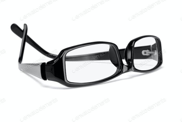 Black plastic frame spectacles