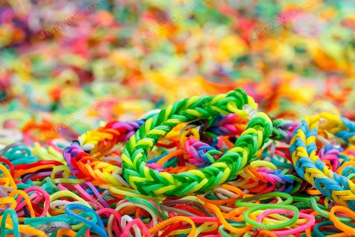 Buntes Rainbow Webstuhl Armband