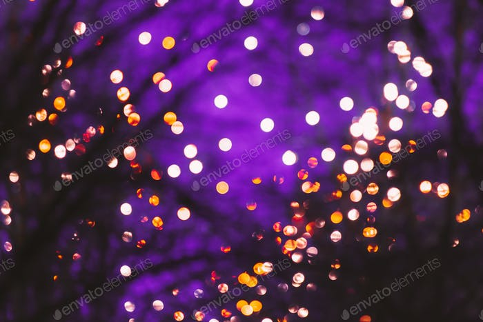 Abstract Blurred Bokeh Boke Background Of Dot Lights Through Bra